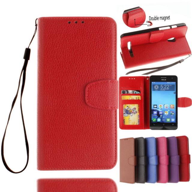 Vintage Slim PU Leather Wallet Flip Cover Case Skin For ASUS Zenfone 5 A501CG