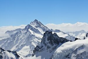 A1-Mountain-Peak-Poster-Art-Print-60-x-90cm-180gsm-Snow-Ski-Cool-Gift-8490
