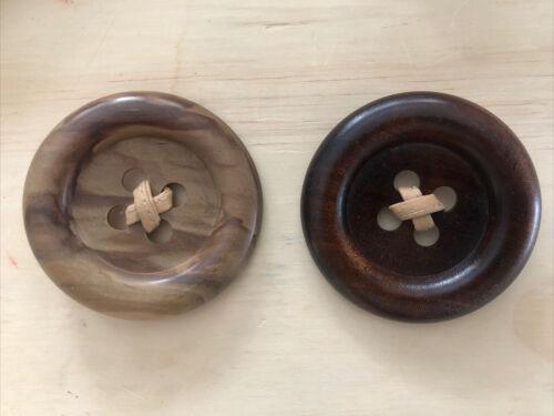 2 X Patrick Kelly Paris Iconic Giant Button Pins W