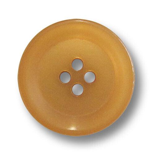 10 ockerfarbene Kunststoffknöpfe mit vier Löchern 5988oc