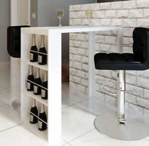 Superb Image Is Loading White Breakfast Table Counter High Bar Coffee Dining