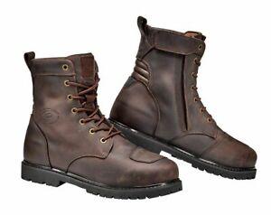 Sidi-Denver-Motorrad-Biker-Schnuer-Boots-in-braun-Wasserabweisend-Groesse-45-Neu