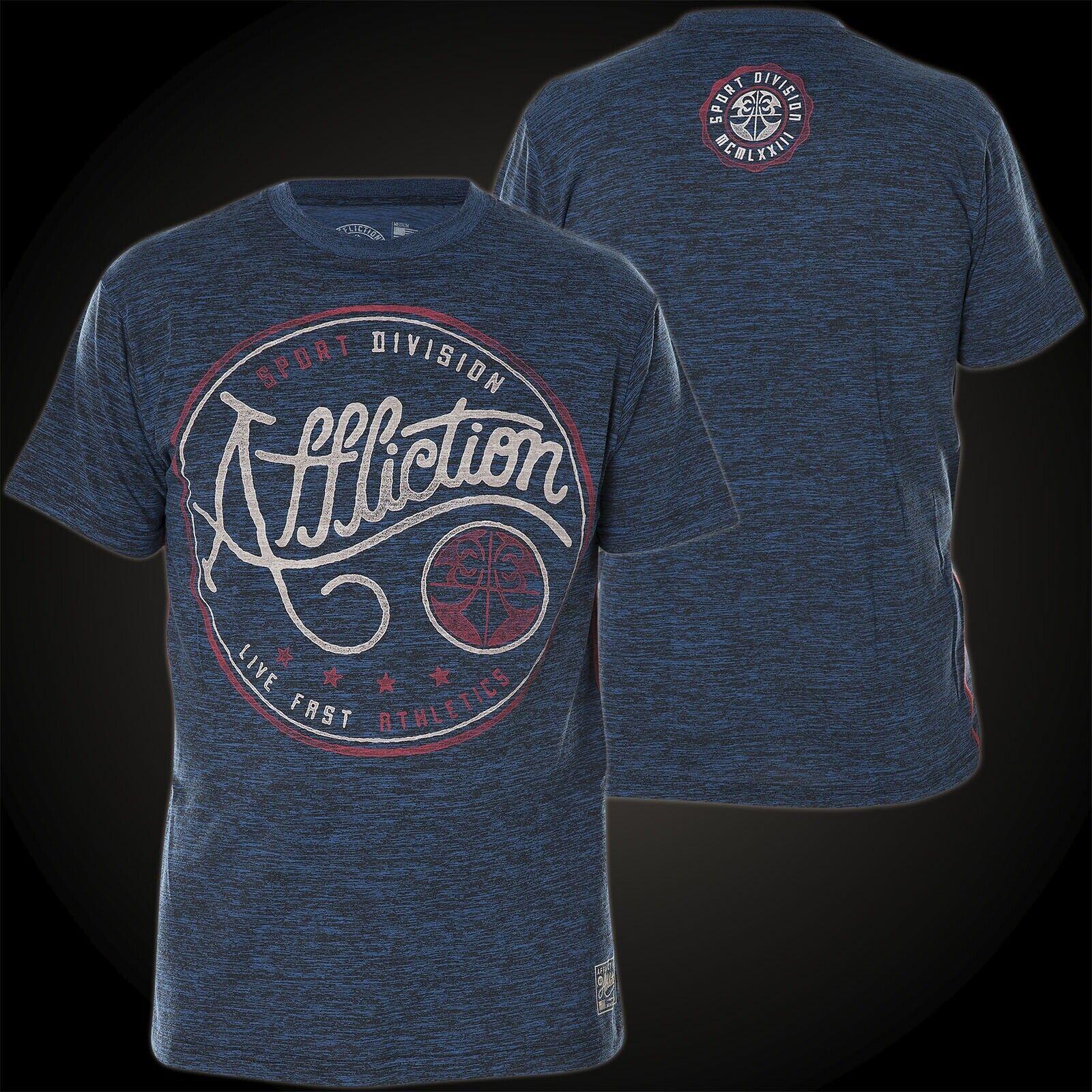 Affliction T-Shirt Elite Sport Blue