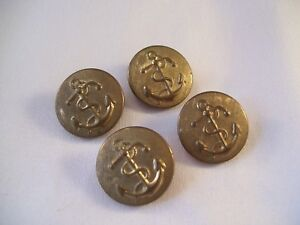 Details about Vintage set of 4 Military Metal Buttons Brass As Found Navy  Anchor & Rope Shank