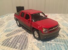 WELLY 1:38 SCALE CHEVROLET AVALANCHE DIECAST TRUCK PULLBACK W/O BOX  Red