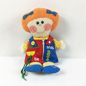 "TB5 Vintage Playskool Dressy Bessy Doll Plush 15"" Stuffed Toy Lovey"