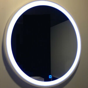 Led Solid Surface Light Vanity Circle Mirror 28 X 28 Inch