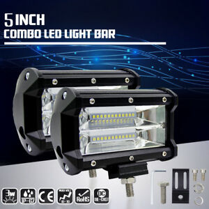 72W-Spot-LED-Light-Work-Bar-Lamp-SUV-4WD-Car-Boat-Truck-Driving-Fog-Offroad