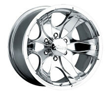 4-NEW Pacer 187P Warrior 17x8 5x135 +10mm Polished Wheels Rims