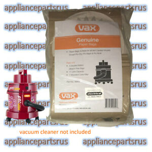 Vax-Canister-Paper-Vacuum-Bags-90600-Pk-5-Bags-Cone-Filter-NEW-GENUINE