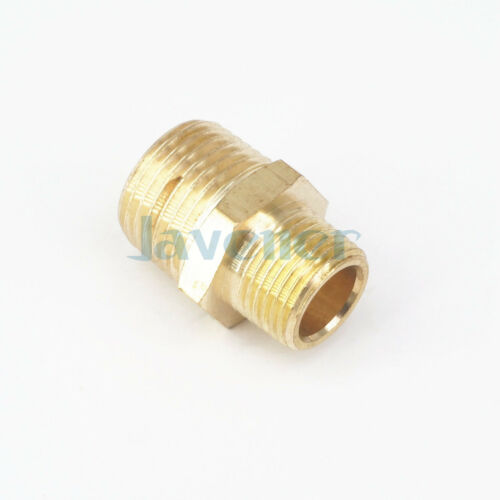 """1//2/"""" NPT x 3//8/"""" NPT Male Hex Nipple Reducer Brass Pipe Fitting Connector 229 PSI"""