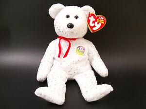 TY BEANIE BABIES  DECADE 10 Year Anniversary White Bear 2003
