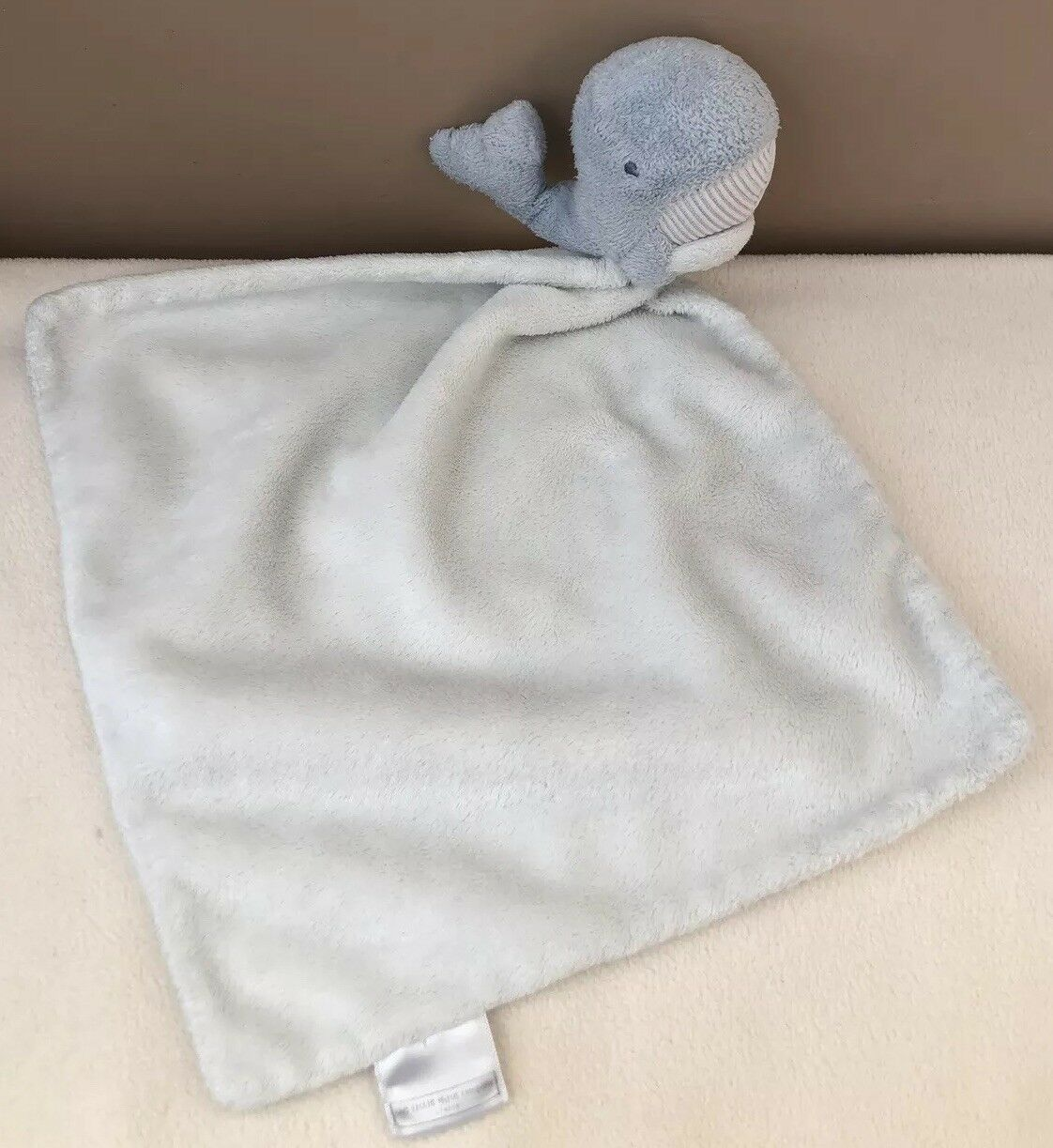 The Little White Company Whale Dolphin bluee Comforter Blankie Baby Soft Toy