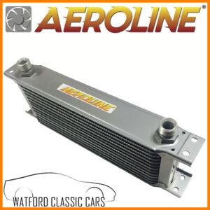 Aeroline-13-Fila-Aleacion-Refrigerador-De-Aceite-1-2-034-BSP-Rapido-Carretera-amp-Carrera-Universal