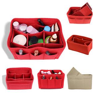Womens-Cosmetic-Bag-Makeup-Felt-Tote-Handbag-Organizer-Bag-Multi-Pocket-Case