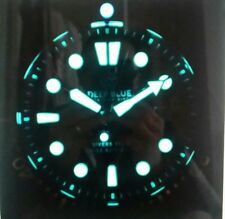 NEW DEEP BLUE MILITARY DIVER 300 SWISS  AUTOMATIC-DIVER BLUE/RED BEZEL.