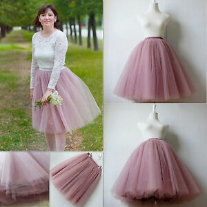 Image Is Loading 6 Layers Lace Maxi Long Tulle Skirt Celebrity