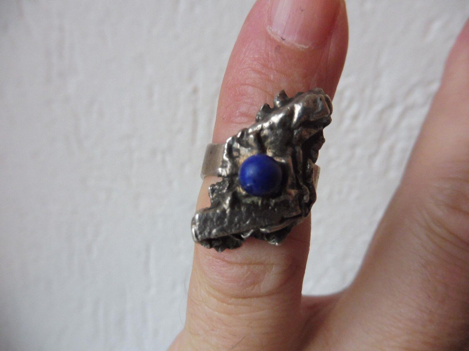Schöner ,alter Ring__925 silver __mit Lapis-Perle_