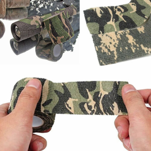 1Roll Adhesive Duct Tape Camouflage Waterproof Hunting Camping Stealth Tape Wrap