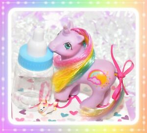 My-Little-Pony-MLP-G1-VTG-BABY-RAINRIBBON-Rainbow-Ponies-Purple-Unicorn
