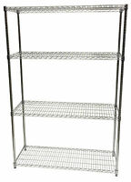 INDUSTRIAL WIRE SHELVING WAREHOUSE GARAGE STORAGE RACK 1.8m H x 1.2m L x 450mm