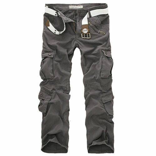 Army Cargo Camo Combat Military Mens Trousers Pants Camouflage Slacks Casual Men