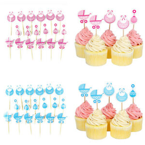18 20 Pcs Baby Shower Cupcake Toppers Boy Girl Favors Party