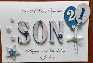 Handmade personalised birthday card