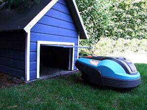Bauplan-Garage-fuer-Maehroboter-mit-automatischer-Klappe