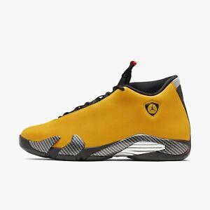 reputable site 970a8 f30b3 Details about New Nike Men's Air Jordan 14 Retro Reverse Ferrari -  University Gold(BQ3685-706)