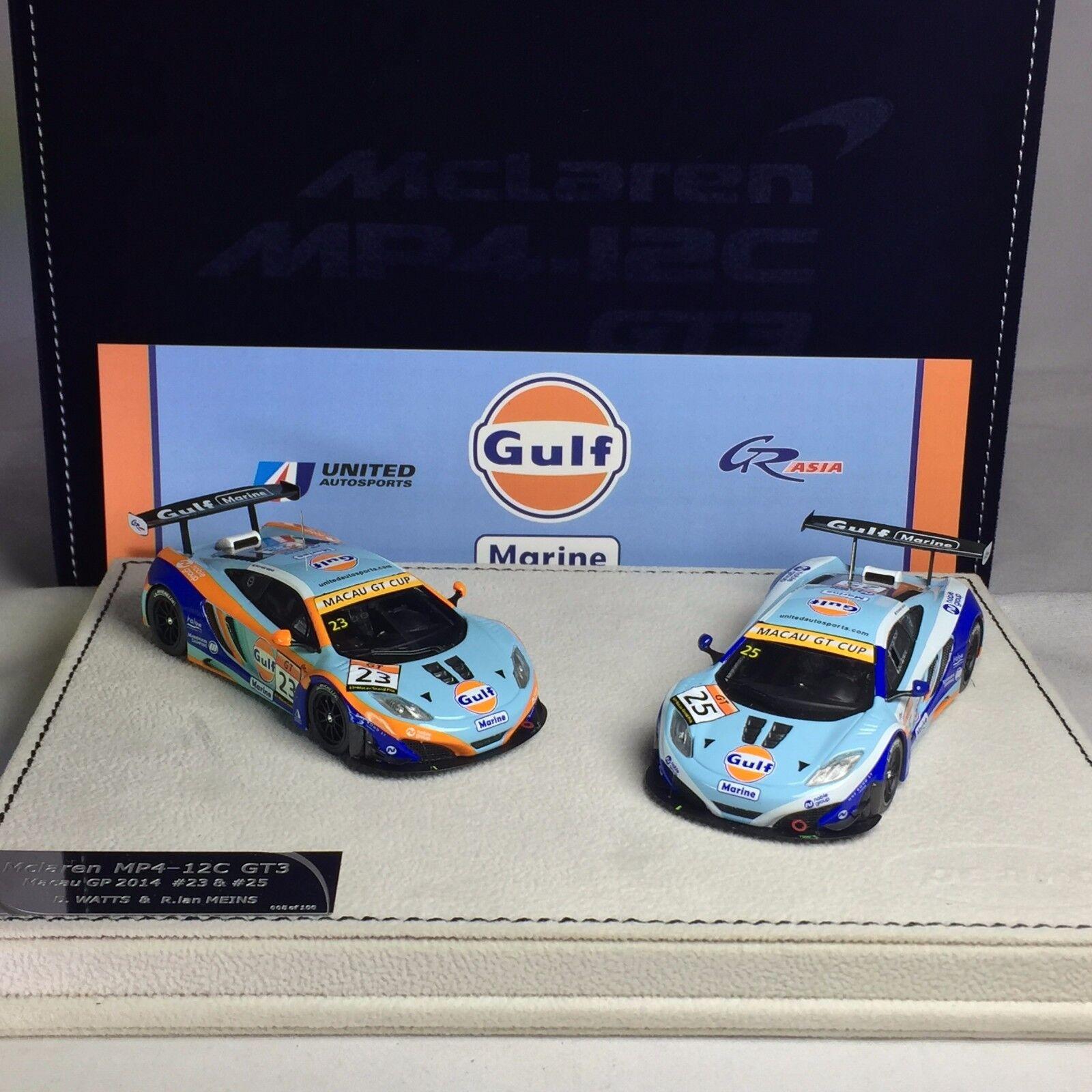 distribuzione globale 1 1 1 43 Peako Mclaren MP4-12C GT3 Macau GP 2014 Danny WATTS & R. Ian MEINS Set  grandi risparmi