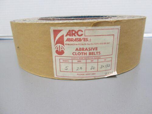 """3/"""" X 132/"""" X 36 GRIT ZIRCONIA ARC SANDING BELT"""