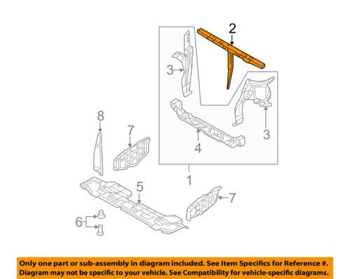KIA OEM 06-12 Sedona Radiator Core Support-Upper Tie Bar 641504D000