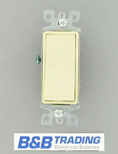 Details about LOT OF 5 Leviton Decora Ivory 3-Way Rocker Switch 5603-2I