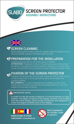"""Slabo protector de pantalla para acepad a140 claro /""""crystal clear/"""" 2er set"""