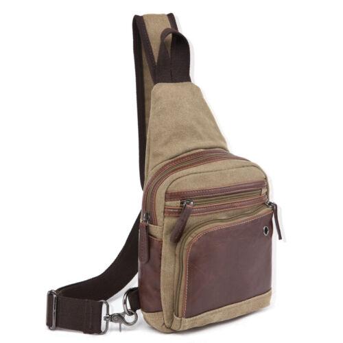 Casual Canvas Sling Bag Crossbody Backpack Shoulder Daypack for Men Women
