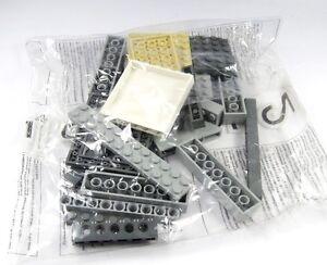 LEGO-exponer-Pieza-Repuesto-Piedras-Placas-Paredes-Castillo-Del-Caballero-Gris