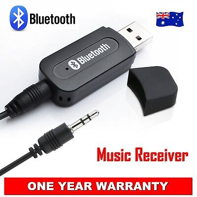 NEW Micro Bluetooth 3.5mm Audio USB Receiver Adapter Music Dongle AUX A2DP Car