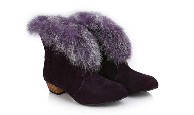Stivaletti stivali Zapatos mujer tacco 3  simil pelle 083 pelo comodi caldi viola 083 pelle 8e0078