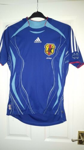 Mens Football Shirt Japan National Team Blue Adidas Home 2006 Size M