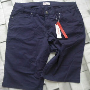 Sheego-Trousers-Cloth-Pants-short-Blue-Size-50-831