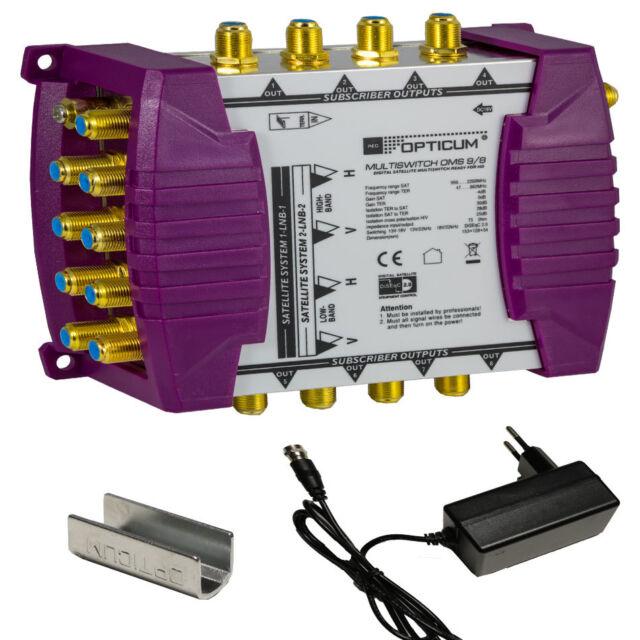 opticum 8 ingressi  Opticum OMS 9/8 Linea Oro Interruttore multiplo 2 satellitare - 8  Partecipanti