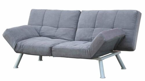 Futon Sofa Bed Modern Couch Mattress Convertible Tufted Lounger Sleeper Charcoal