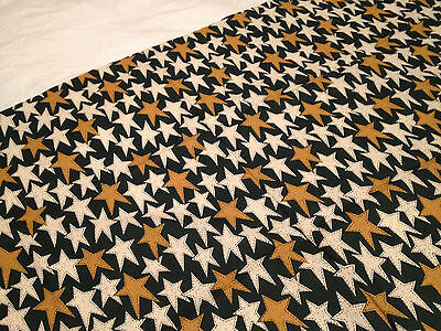 Gold Stars on Green /& Dark-Green Quilting Cotton By 1//2 Yd N490