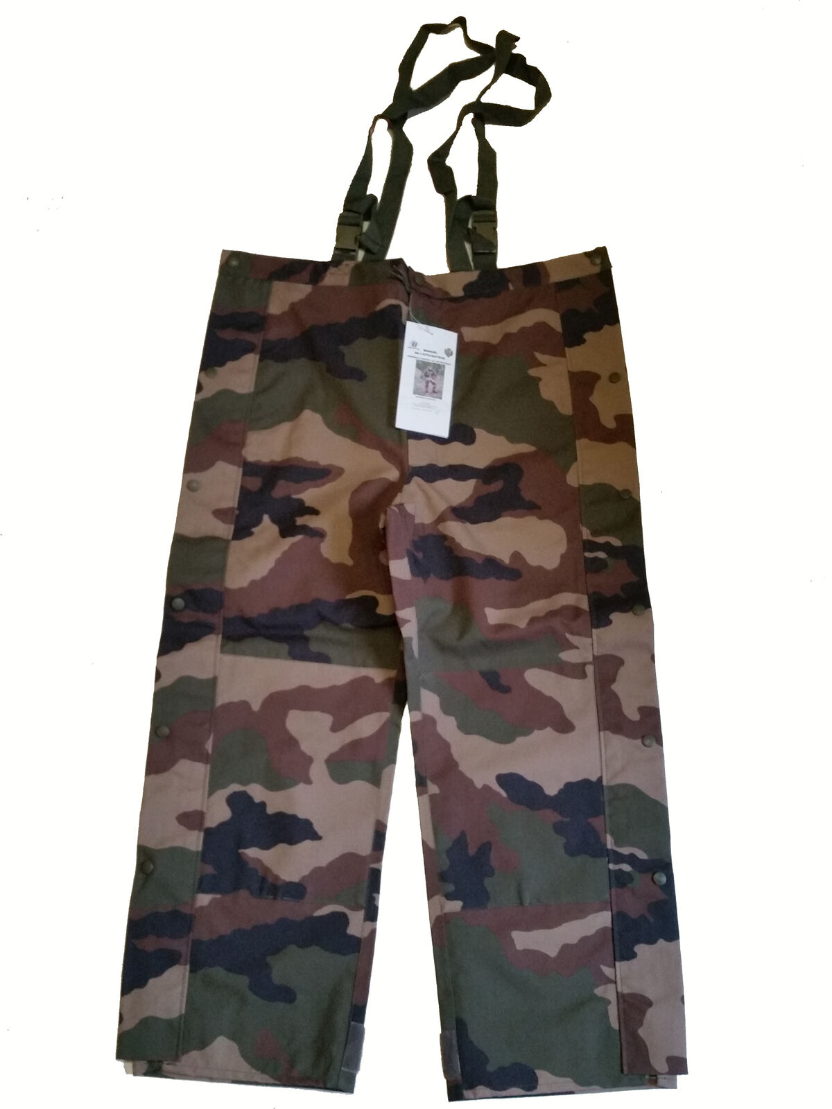 Orig. French Army Moisture  Predection Pants Waterproof CCE Woodland TE Camo  free shipping on all orders