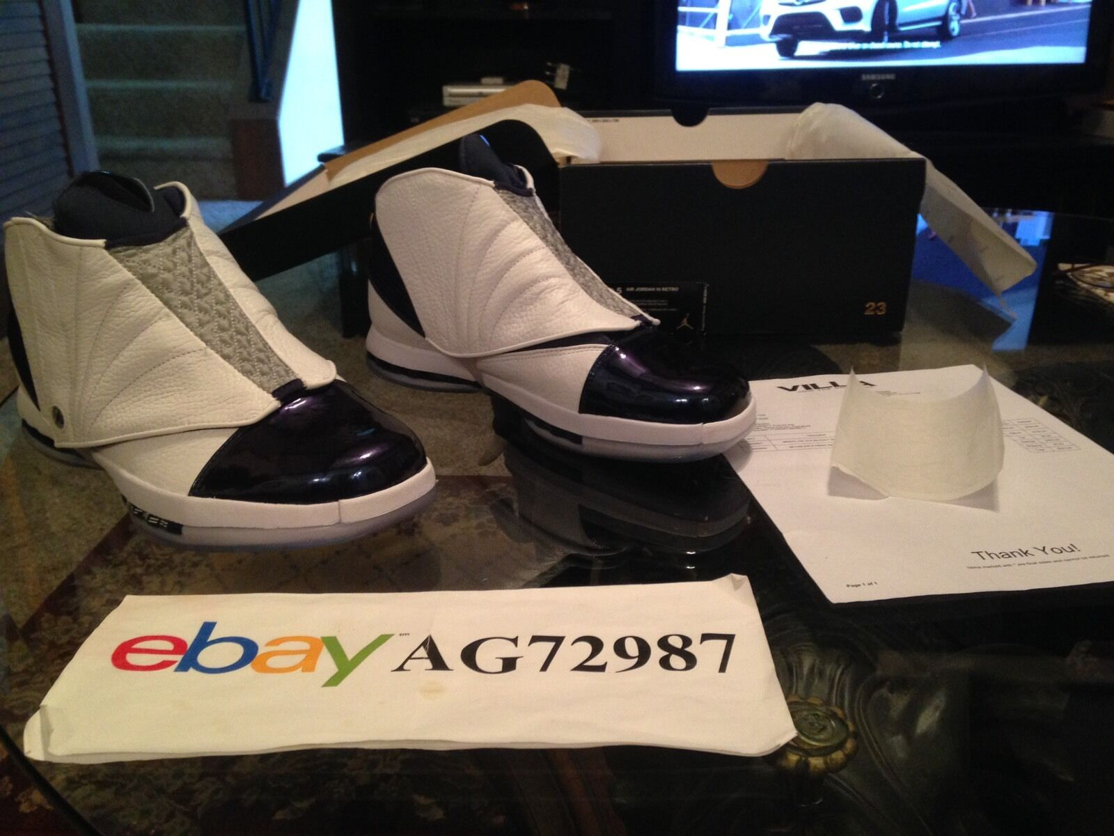 Nike Air Jordan Retro 16 Midnight Navy Size 10.5 DS Authentic With Receipt
