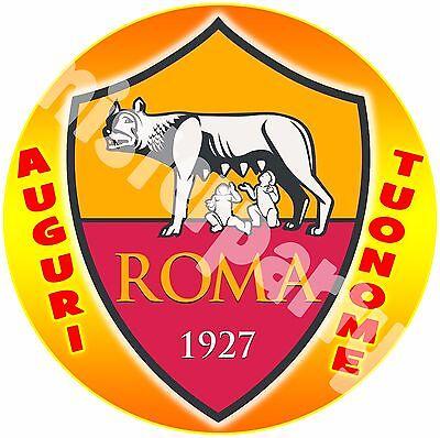 42x29 Humble Cialda Ostia Per Torte Roma Scudetto 2 Formato Grande A3 Cm