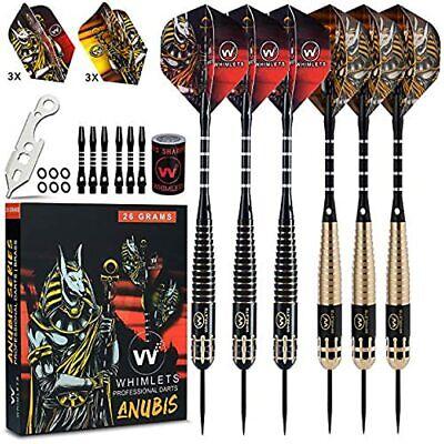 3Pcs Needle Tip Darts 26 Grams Iron Barrel Dart Set Aluminum Shaft Flights Games