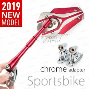 KiWAV Viper Red Mirrors Fairing with Adapter for Suzuki SV 650A 03-07