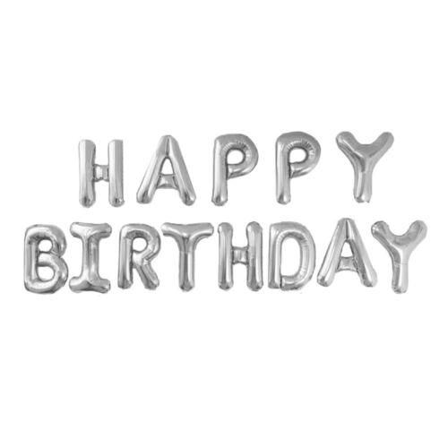 13 tlg Happy Birthday Folienballons Luftballons Buchstaben Geburtstag Party Deko